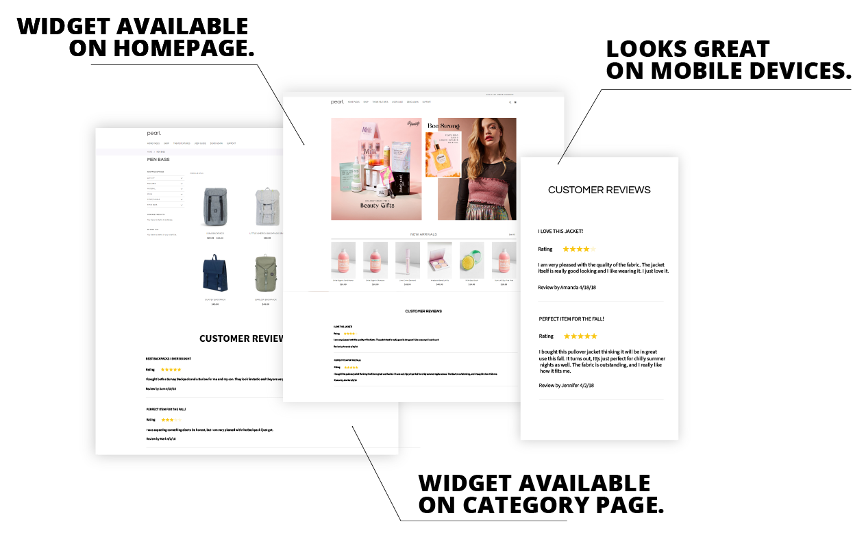 Magento 2 Product Reviews & Rating Widget Extension example screen 2.