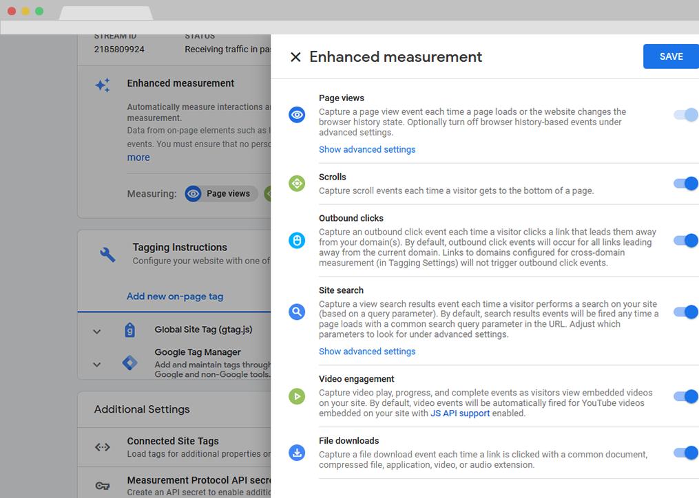 GA4 Enhanced Measurements