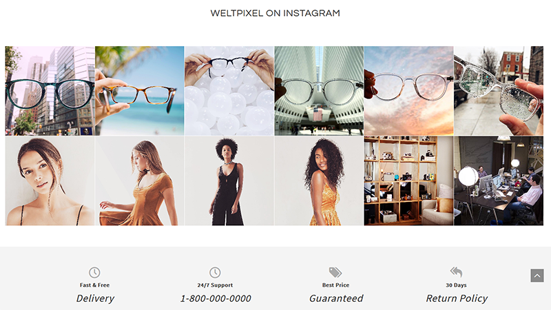 Magento 2 Instagram Feed Widget frontend