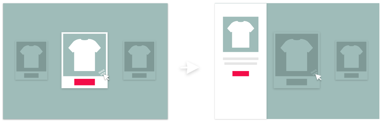 Magento 2 Ajax Add to Cart & Quick View Extension left sidebar example