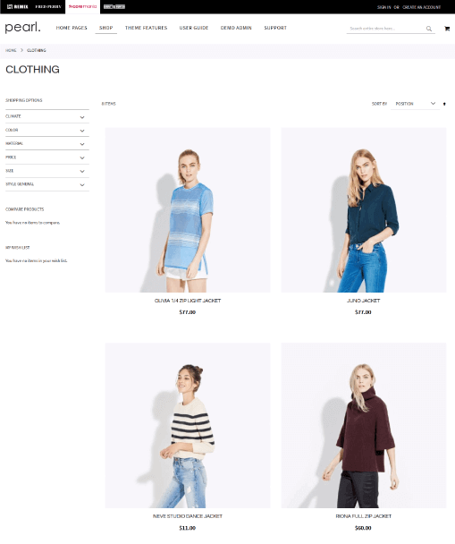 Magento Category Page - 2 COLUMNS + SIDEBAR