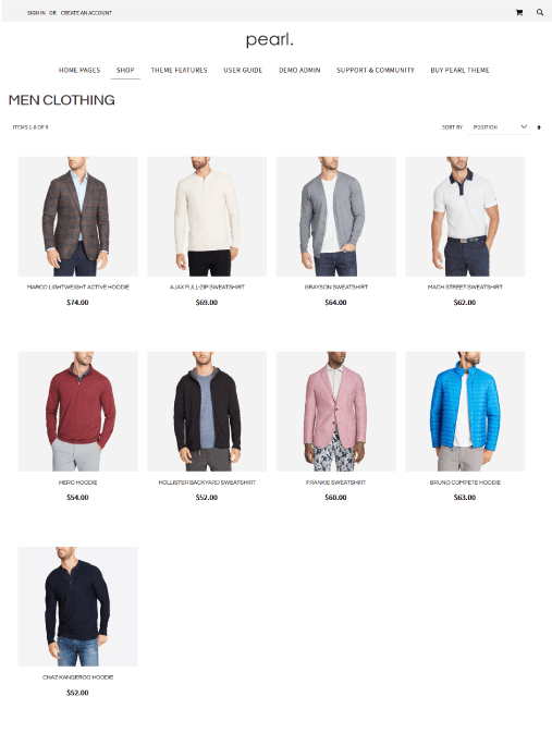 Magento Category Page - 4 COLUMNS