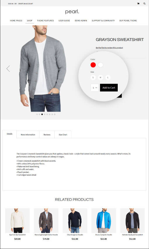 Magento Product Page - CONFIG PRODUCT