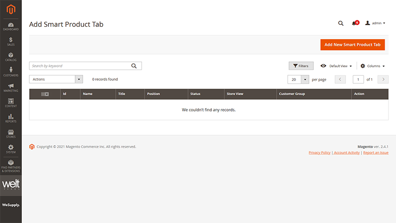 Magento 2 Custom Product Page Tabs Add New Smart Product Tab