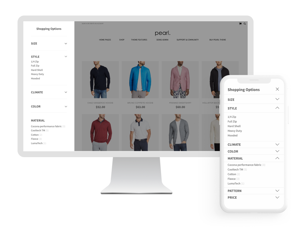Magento 2 Infinite Scroll & Ajax Catalog Extension upsell for Magento 2 Layered Navigation Extension.