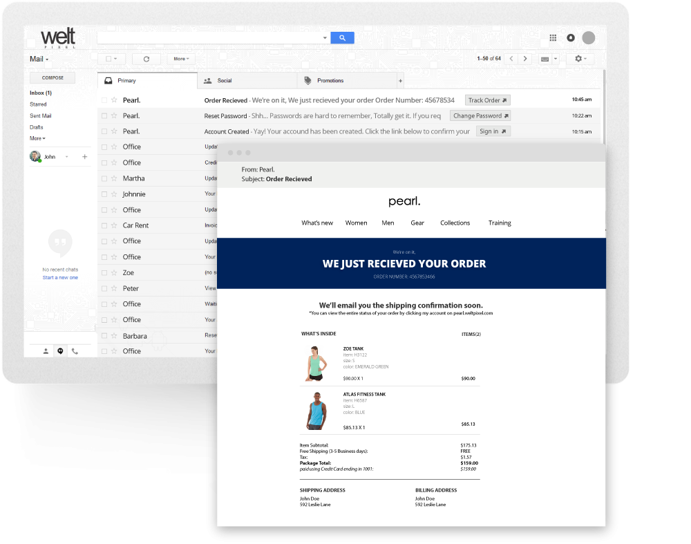 Magento 2 Email Template Editor With Gmail Markup Support
