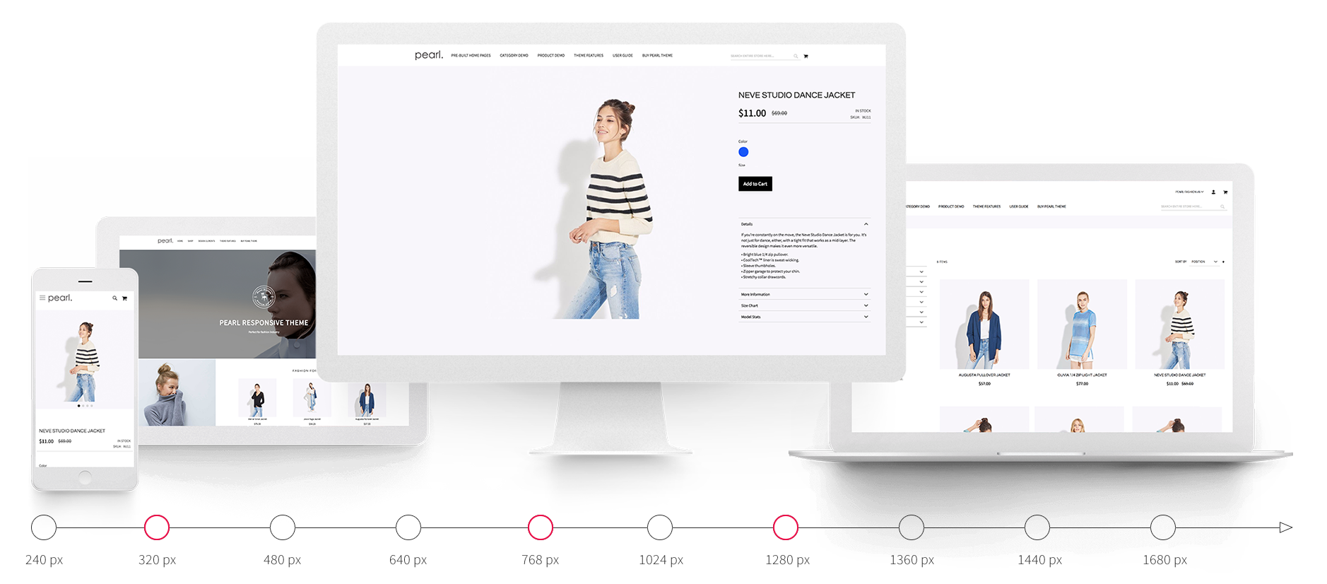 Pearl Responsive Theme For Magento 2